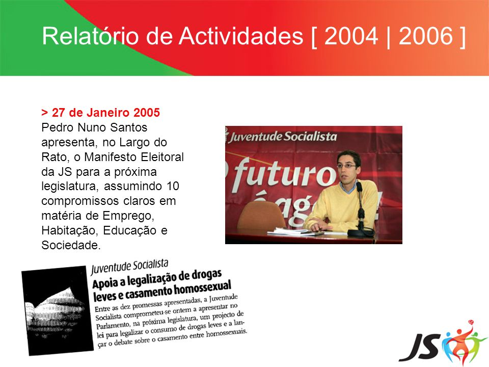 Relatório de Actividades [ 2004 | 2006 ]